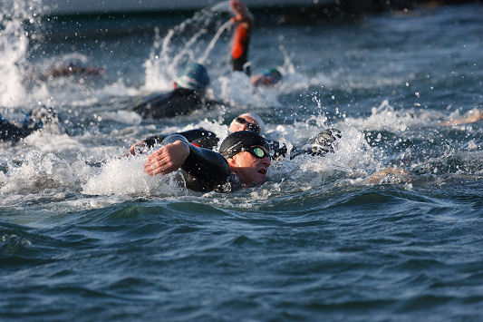 The Howth Aquathon race 1 - swimmers